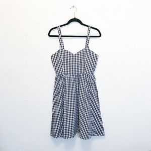 Lindy Bop Navy Blue Gingham Dress